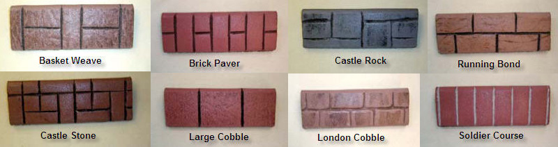 Different Stamps for Landscaping Curbing